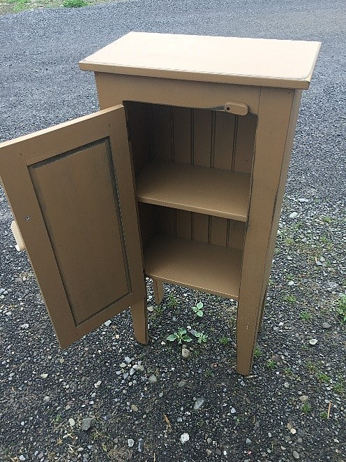 AMISH BARN-OPENED Honey Cabinet