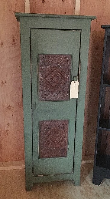 AMISH BARN-Sage Chimney Cabinet with Rustic Panels