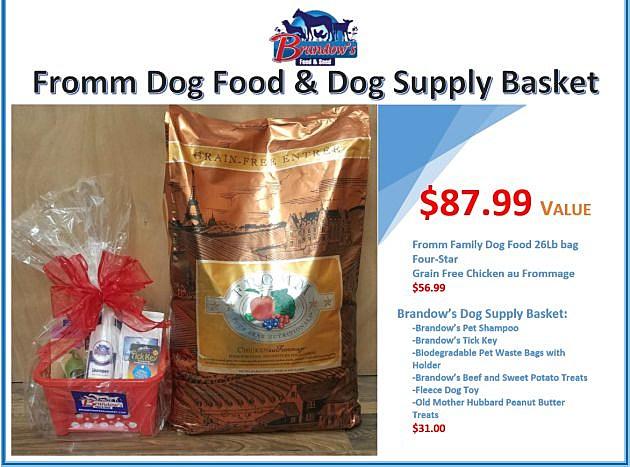BRANDOWS- Fromm DOG FOOD and Basket