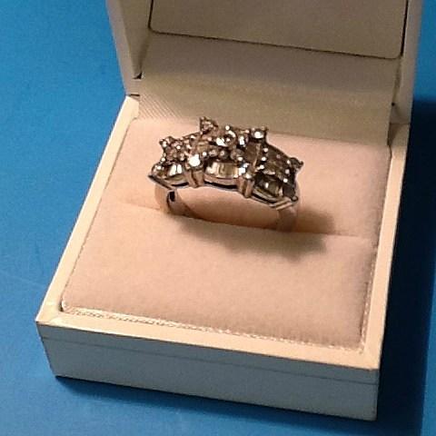 SILVERSMITH 7 -white-gold, diamond ring