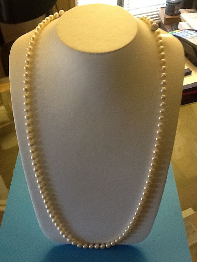 SILVERSMITH-PEARL NECKLACE