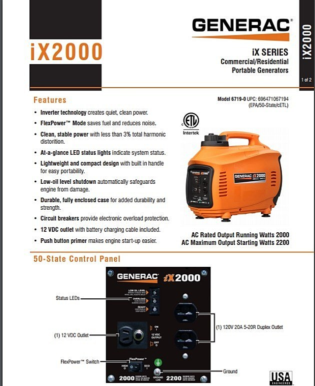 common ground- ix2000 generac generator