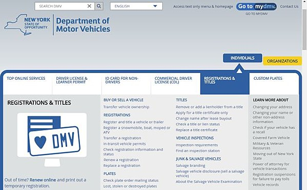 Ny state dmv sets transaction record for 2017 for Motor vehicle ny pay tickets